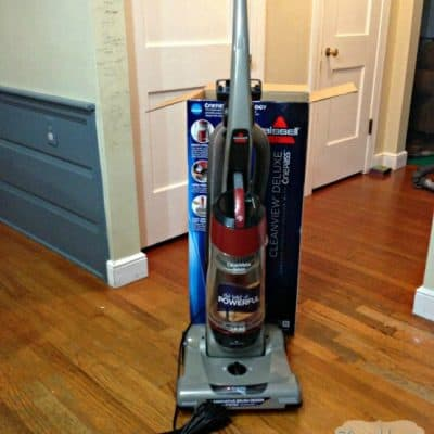 Quiet cleaning with the Bissell CleanView Deluxe Bagless Vacuum  #cleanview #ad