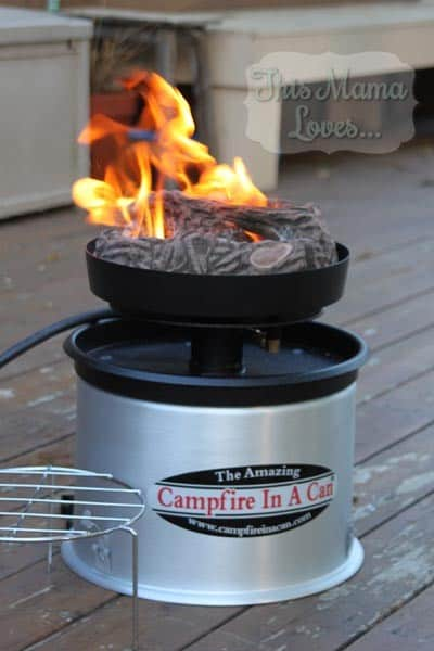 campfire in a can feature