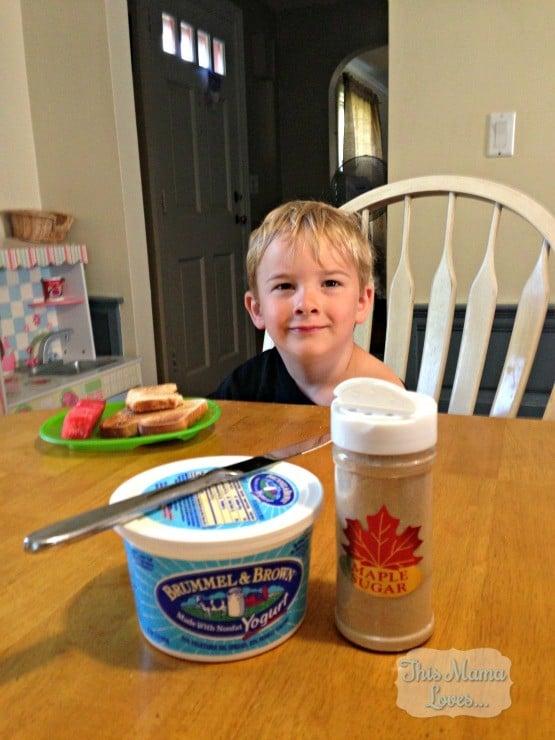 maple toast for breakfast!