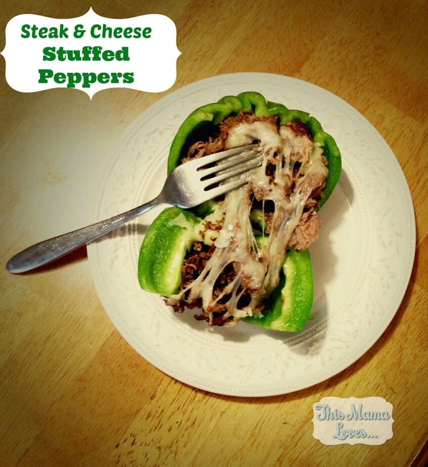 steak and cheese stuffed pepper