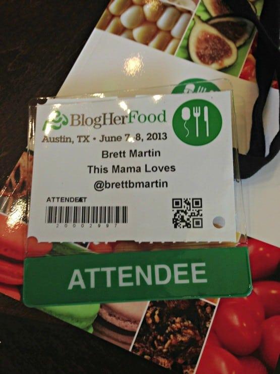 blogging conference badge