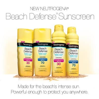 Protecting your skin with Neutrogena Beach Defense Sunscreen (Enter to win!)