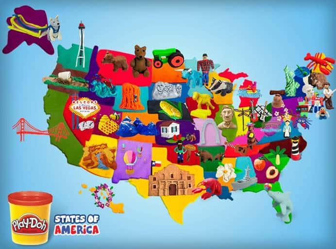 Play Doh States Of America