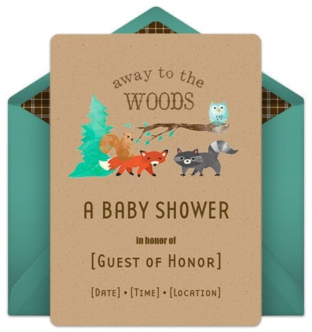 away-to-the-woods-baby-shower-invitation