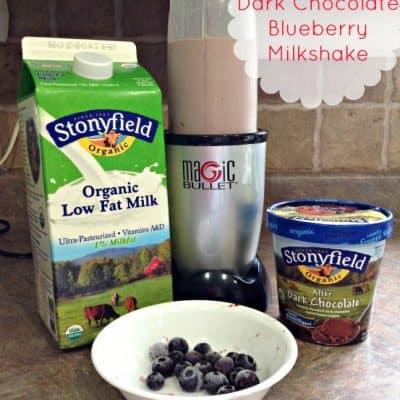 Blueberry Dark Chocolate Milkshake Recipe