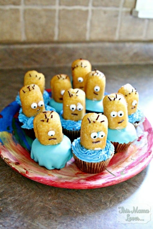 Despicable Me Minion Surprise Cupcakes Recipe This Mama