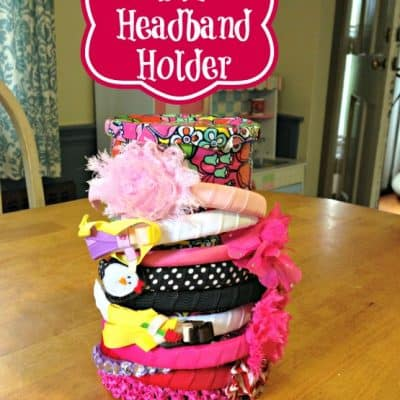 DIY Upcycled Duct Tape Headband Holder
