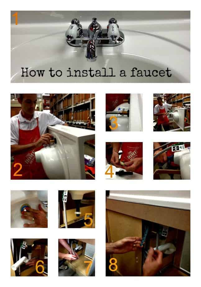 how-to-install-faucet-collage