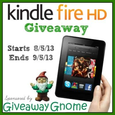 Kindle Fire HD Giveaway with Giveaway Gnome #KindleFireHD