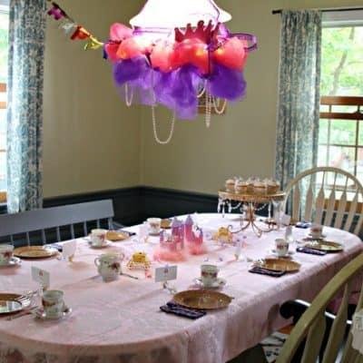 A Princess Tea Party Birthday Party