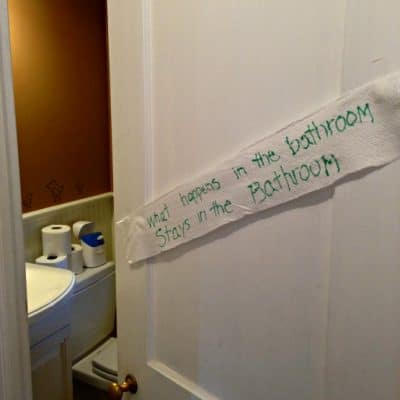 So let's talk about our bathroom habits, shall we? #LetsTalkBums #ad