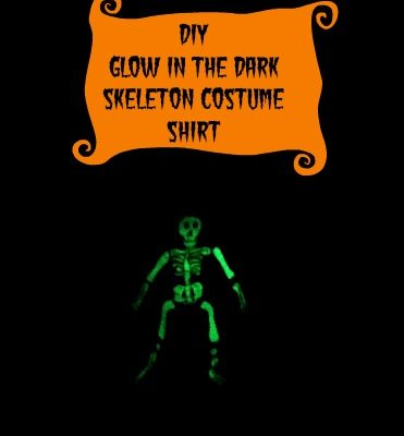DIY Glow in the Dark Skeleton Halloween Shirt