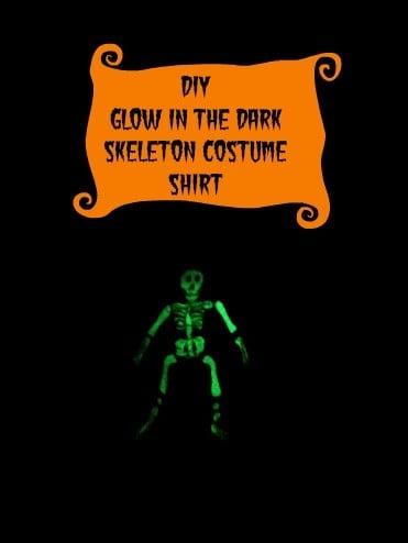 diy halloween shirt glow in the dark