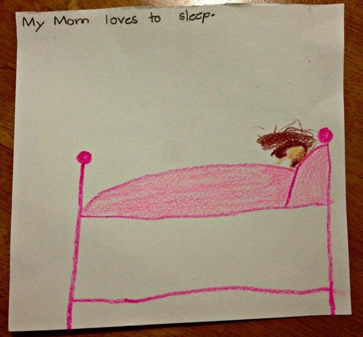 my mom loves to sleep