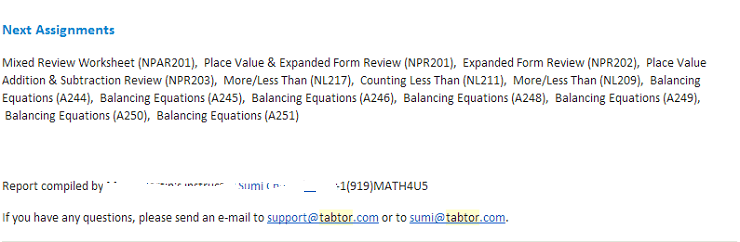 tabtor next worksheets