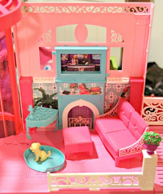 Barbie's Moved into the new Barbie Dream House