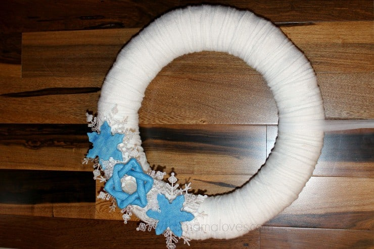 Hanukkah wreath 5
