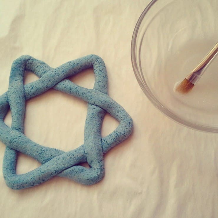 Star of David Salt Dough painting