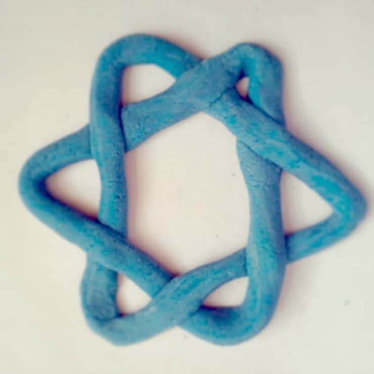 Star of David Salt Dough single ready to bake