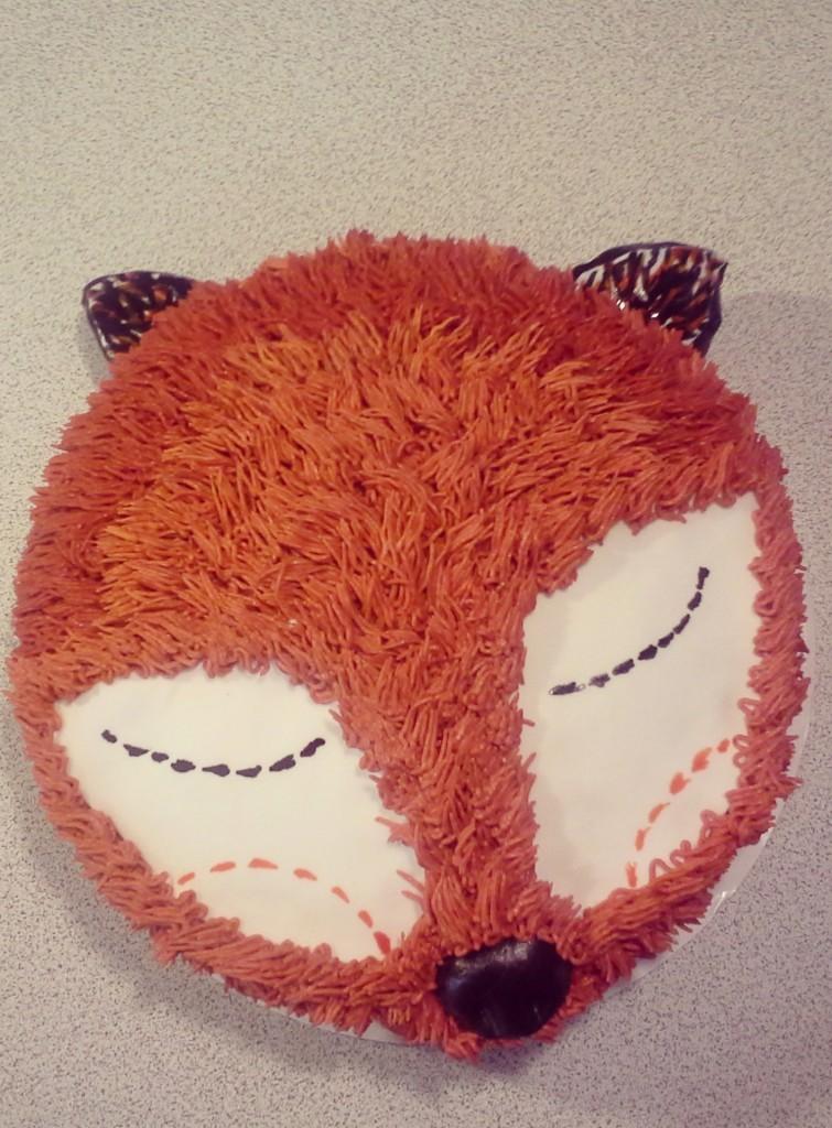 fox cake finished