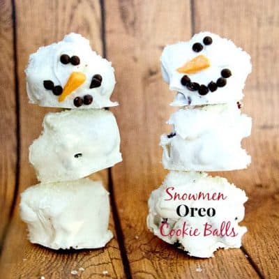 Snowman Oreo Cookie Balls Recipe