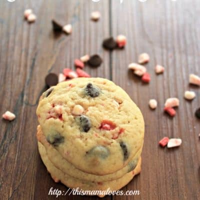 Peppermint Chocolate Chip Cookie Recipe #Recipe #linky