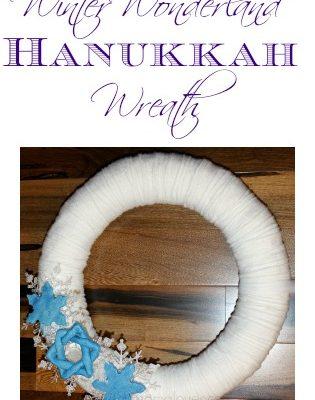 DIY Winter Wonderland Hanukkah Wreath