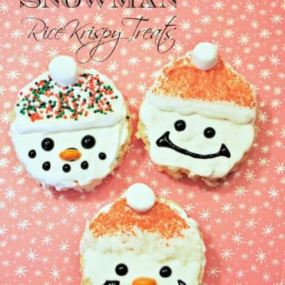 Holiday Treat Recipes: Santa Snowman Rice Krispy Treats
