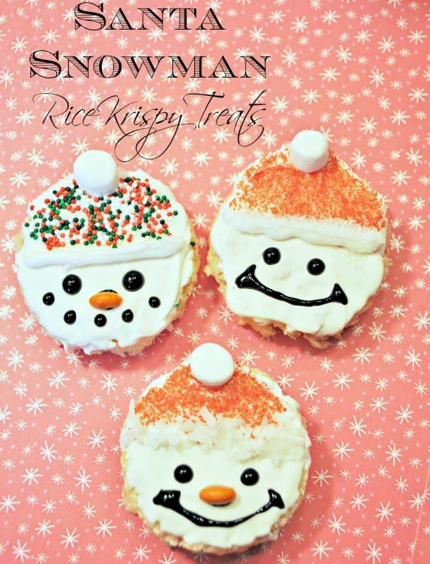 Rice Krispie Snow Men Santas