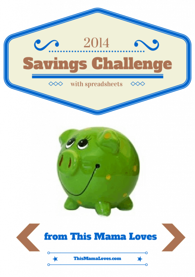 52 week savings challenge with spreadsheets
