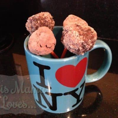 Vegan Recipe: Chocolate Date Nut Lollipops