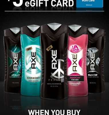 AXE Rewards Program $100 Walmart Giveaway