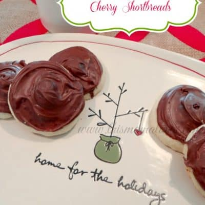 12 Days of Christmas Cookies: Chocolate Covered Cherry Shortbreads