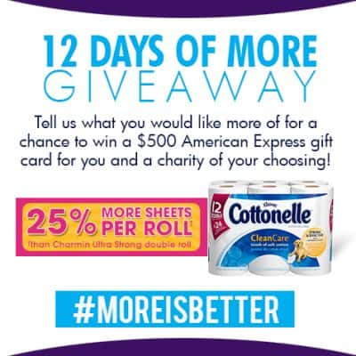 My Christmas Wish: 25% more…… #MoreisBetter $500 Amex Daily Giveaway