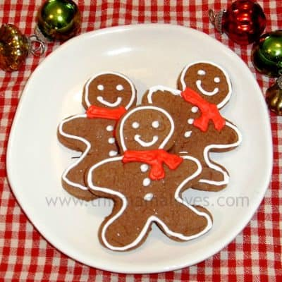 12 Days of Christmas Cookies: Gingersnap Christmas Cut Outs