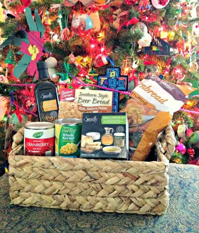 giving-dinner-baskets-aldi-#aldistyle