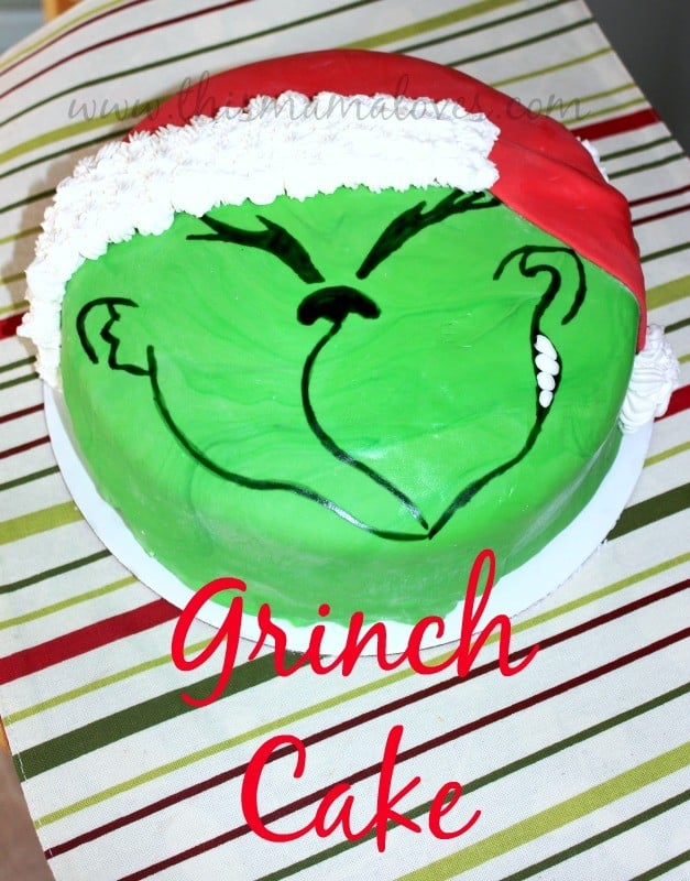 How to make a grinch cake