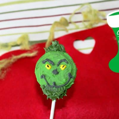 12 Days of Christmas Cookies: Grinch Cookie Pops Recipe