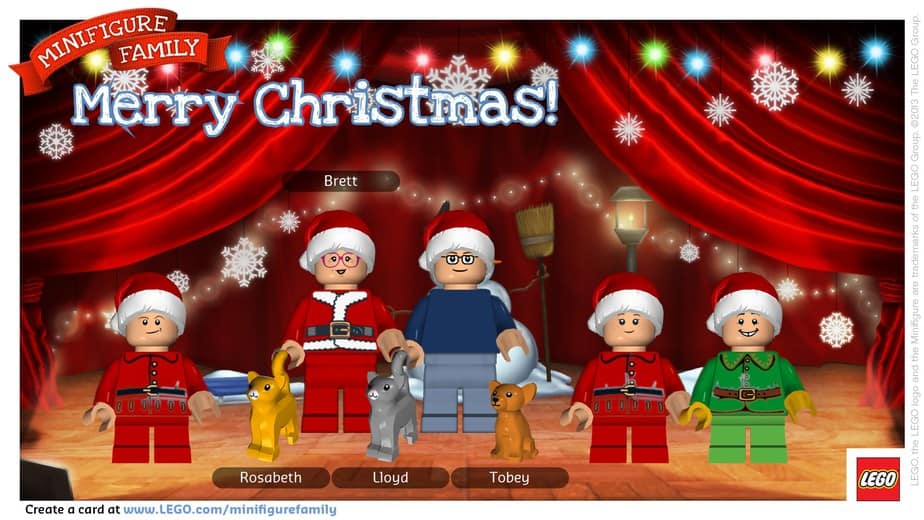 Have A Very Lego Minifigure Family Christmas This Mama
