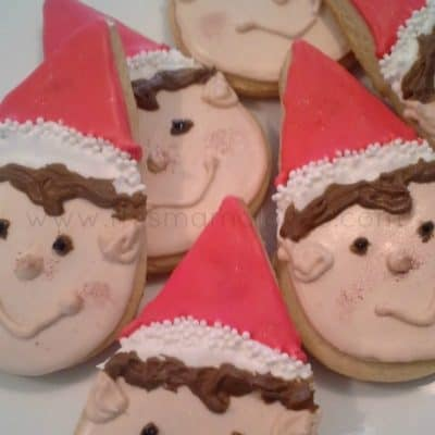 12 Days of Christmas Cookies: Elf on the Shelf Lemon Snap Sugar Cookies Recipe