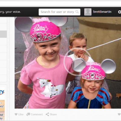 Create shareable video memories with Voyzee