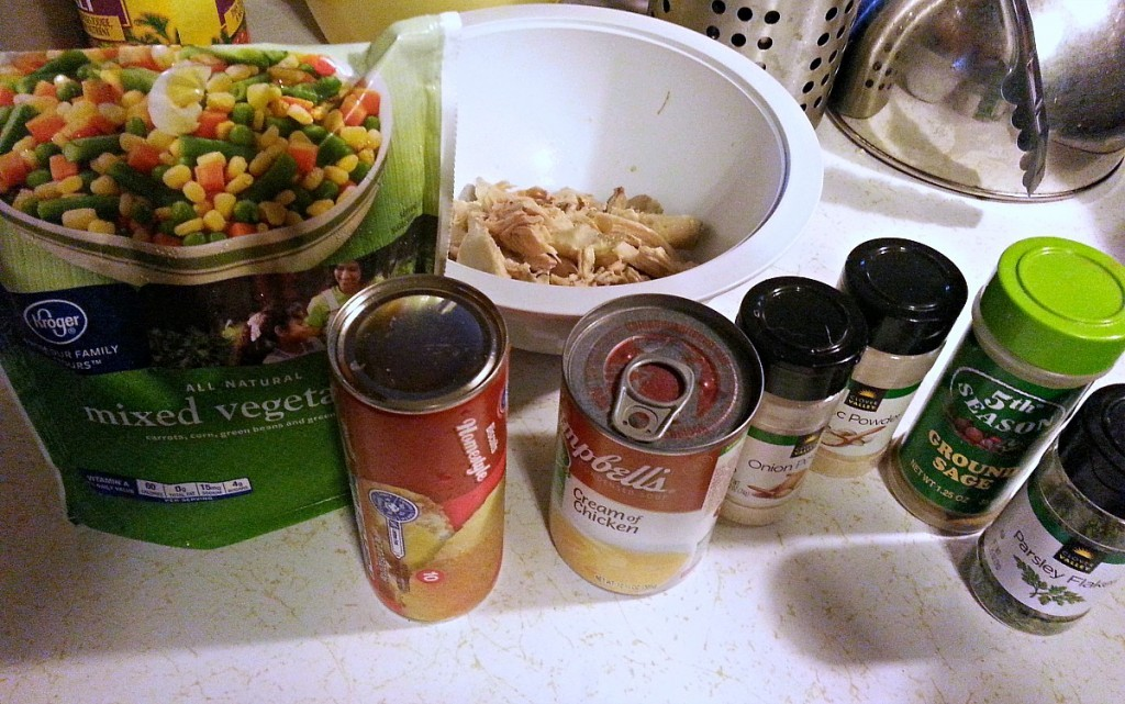 Weight Watchers Chicken Pot Pie Ingredients