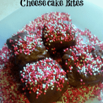 Chocolate Covered Cherry Cheesecake Bites