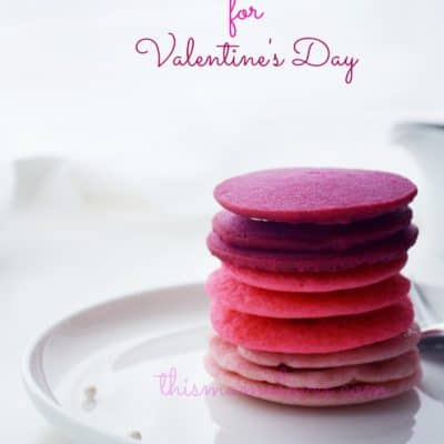 Ombre Pancakes for Valentine's Day