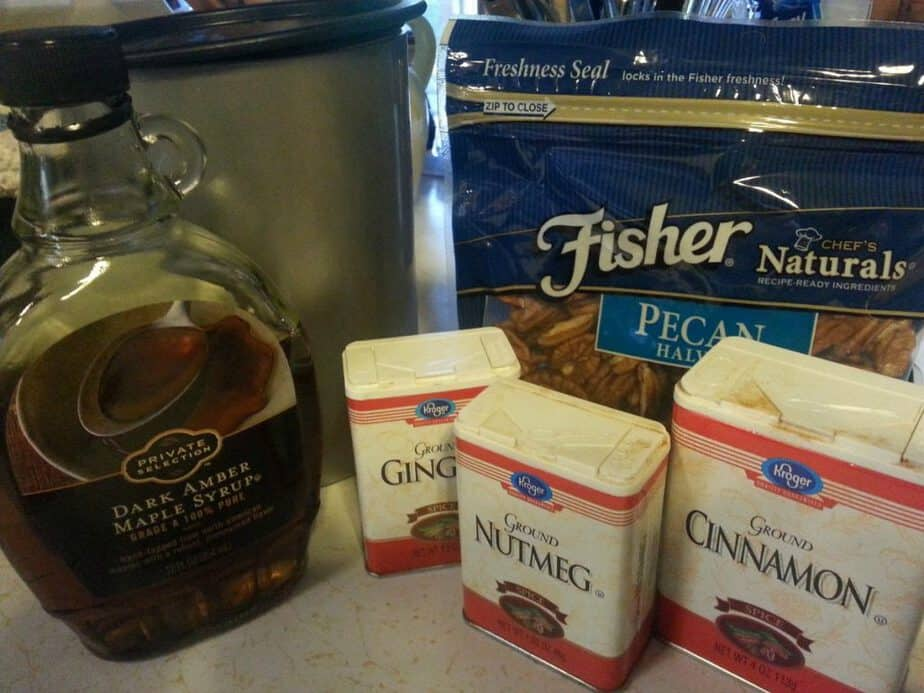 Slow Cooker Cinnamon Sugar Pecan Ingredients