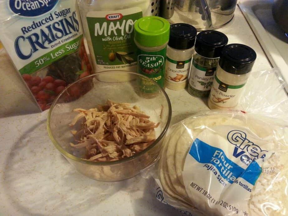 Turkey Cranberry Wrap Ingredients
