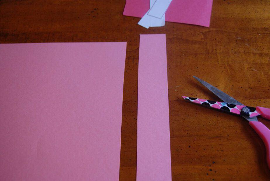 arrow valentine craft in progress