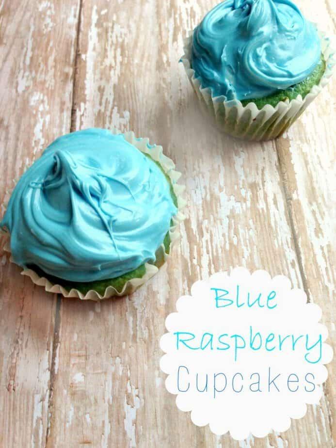 blue raspberry cupcakes