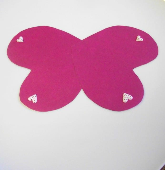 butterfly valentines craft progress