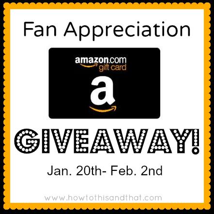 fan appreciation amazon giveaway